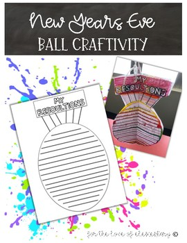 New Years Eve Ball Craftivity