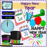 New Year's Eve Party Clipart {2017-2018}