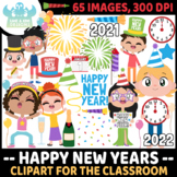 Happy New Years Clipart (Lime and Kiwi Designs)