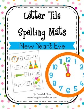 New Year's Eve Letter Tiles Spelling Mat