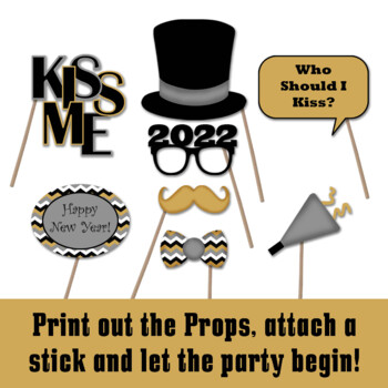 New Years Eve 2019 Photo Booth Props And Decorations Printable By