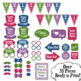 New Years Eve Photo Booth Props and Decorations - Colorful