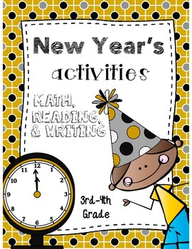 New Year's Eve Reading, Math, & Writing Activities