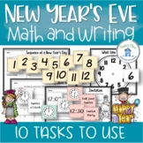 New Year's Eve Math and Writing Tasks