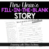 New Years Fill In the Blank Story Writing Activity - like Mad Libs