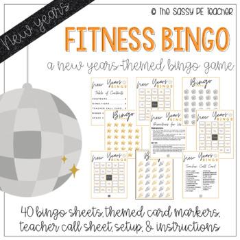 New Years Fitness Bingo