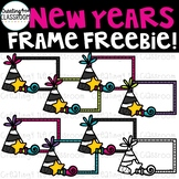 New Years Frame Clipart Freebie {New Years Clipart}