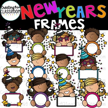 New Years Frames Clipart  {New Years Clip art}