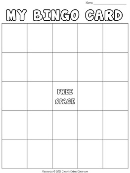 New Year's Free Create Your Own Luck Bingo