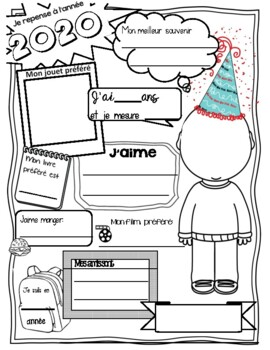 New Years French Activity - Year in Review / La Novelle année