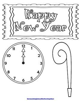 New Year's Glyph Craftivity