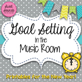 Music Bulletin Board - New Years Goal Setting - Printables