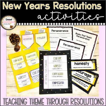 New Years Goal Setting with Theme - includes Interactive Notebook!