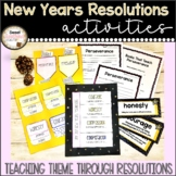 New Years Goal Setting with Theme - includes Interactive N