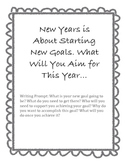 New Years Goal Writing Prompt