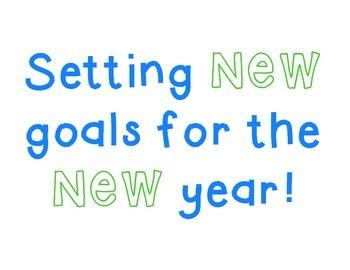 New Years Goals Craftivity