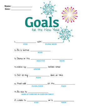 New Years Goals Mad Lib