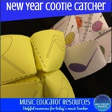 New Years Goals and Reflection Cootie Catchers
