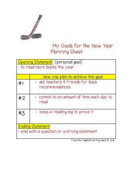 New Year Writing Freebie