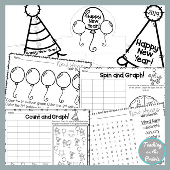2018 New Years Hat Activity Pack