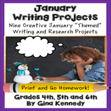 January Creative Writing Projects for Upper Elementary Students