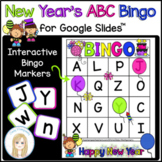 New Years Interactive Digital Letter Bingo Game for Google