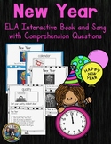 New Years Interactive Vocabulary Book and Song