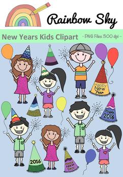 New Years Kids Clipart 2016