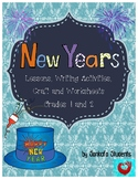New Years Lessons, Writing Activities, Craft and Worksheets for Grades 1 and 2