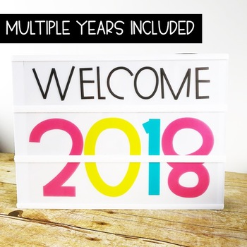 New Years Light Box Inserts - Heidi Swapp or Walmart