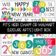 New Years Light Box Inserts - Heidi Swapp or Walmart