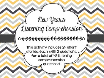 New Year's Listening Comprehension