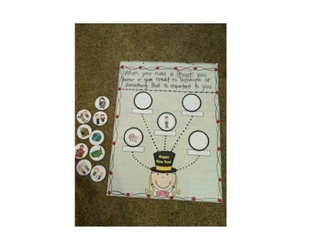 New Year's Literacy and Math Fun with New Years Toast Craft