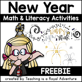 New Year Math and Literacy Activities