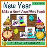 New Years Make A Short Vowel Word Family Center