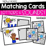 New Years Matching Cards for Letters and Sounds by Education and Inspiration