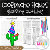 New Years Math Activity: Coordinate Plane Graphing Activity: New Years Cactus!
