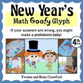 New Year's Math Goofy Glyph (4th Grade Common Core)