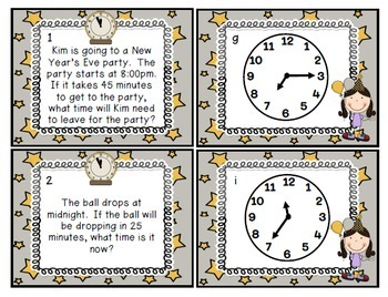 New Year's Math and Literacy Activities {PLUS A FREEBIE DOOR DISPLAY}