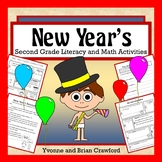 New Year's Math and Literacy Activities Second Grade Common Core