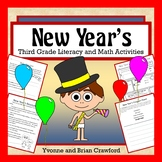 New Year's Math and Literacy Activities Third Grade Common Core