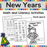 New Years Activities 2019, New Years Math and Literacy