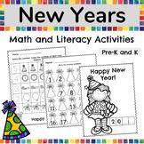 New Years Activities 2020, New Years Math and Literacy