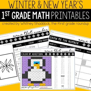 New Years Math and Literacy BUNDLE