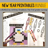 New Years Math and Literacy BUNDLE