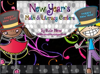 New Years Math and Literacy Centers for Kindergarten