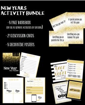 New Years Mindset Activities Bundle