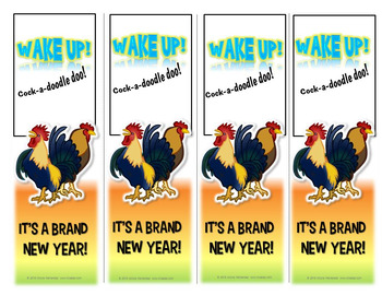 New Year's Resolution 2017 Bookmarks - Wake Up!