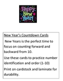 New Year's Mini Unit pre-k/preschool