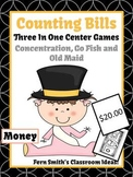 New Years Money Bills Only Center Games for Go Fish Old Ma